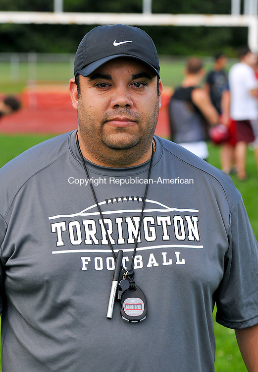 TORRINGTON, CT 14 AUGUST 2013--081413JS05-Torrington's new football coach Gaitan Rodriguez.<br /> Jim Shannon Republican American