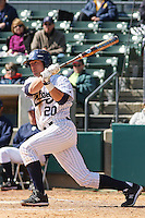 Francis Larson of the University of California at Irvine at the plate during a game against James Madison University at the Baseball at the Beach Tournament held at BB&T Coastal Field in Myrtle Beach, SC on February 28, 2010.