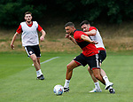 James Wilson and Enda Stevens during the training session at the Shirecliffe Training complex, Sheffield. Picture date: June 27th 2017. Pic credit should read: Simon Bellis/Sportimage