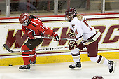 Vanessa Emond (St. Lawrence - 14), Tracy Johnson (BC - 5) - The visiting St. Lawrence University Saints defeated the Boston College Eagles 4-0 on Friday, January 15, 2010, at Conte Forum in Chestnut Hill, Massachusetts.