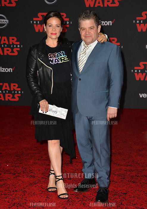 Patton Oswalt &amp; Meredith Salenger at the world premiere for &quot;Star Wars: The Last Jedi&quot; at the Shrine Auditorium. Los Angeles, USA 09 December  2017<br /> Picture: Paul Smith/Featureflash/SilverHub 0208 004 5359 sales@silverhubmedia.com