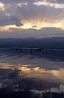 Images from the Book Journey Through Color and Time, first light on Inlay Lake, northern Burma