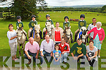 The Kingdom Pony club team that finished as runners up in the All Ireland Mounted Games in Gorey, Co Wexford last Thursday front row l-r: Donie Geaney, Eugene Cronin, Caoimhe Ahern, John Sullivan, John Ahern, Mary Fiztgearald. Back row: Joan Cronin, Conor Geaney, Trevor Sullivan, Jack Geaney, Deirdre O'Sullivan, John Ahern, Patrick, Mike and Mary Fitzgerald