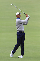 Tiger Woods (USA) on the 4th fairway during the Second Round - Foursomes of the Presidents Cup 2019, Royal Melbourne Golf Club, Melbourne, Victoria, Australia. 13/12/2019.<br /> Picture Thos Caffrey / Golffile.ie<br /> <br /> All photo usage must carry mandatory copyright credit (© Golffile | Thos Caffrey)