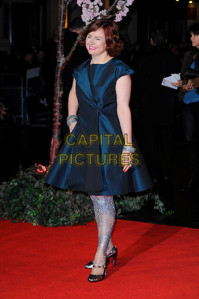 Clare Stewart <br /> attending the 57th BFI London Film Festival Closing Night Gala World Premiere of 'Saving Mr Banks', Odeon Cinema, Leicester Square, London, England. <br /> 20th October 2013<br /> full length blue dress silver tights <br /> CAP/MAR<br /> &copy; Martin Harris/Capital Pictures
