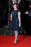 Clare Stewart <br /> attending the 57th BFI London Film Festival Closing Night Gala World Premiere of 'Saving Mr Banks', Odeon Cinema, Leicester Square, London, England. <br /> 20th October 2013<br /> full length blue dress silver tights <br /> CAP/MAR<br /> © Martin Harris/Capital Pictures