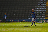 Rochdale's Joe Thompson applauds home fabs after the final whistle in the Sky Bet League 1 match between Rochdale and Walsall at Spotland Stadium, Rochdale, England on 23 December 2017. Photo by Juel Miah / PRiME Media Images.
