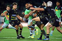 Paul Lasike of Harlequins takes on the Northampton Saints defence. Gallagher Premiership match, between Northampton Saints and Harlequins on September 7, 2018 at Franklin's Gardens in Northampton, England. Photo by: Patrick Khachfe / JMP