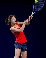 Hilversum, Netherlands, December 3, 2017, Winter Youth Circuit Masters, 12,14,and 16, years, Loes Ebeling Koning (NED)<br /> Photo: Tennisimages/Henk Koster