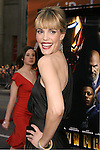"""Actress Leslie Bibb arrives to the """"Iron Man"""" premiere at Grauman's Chinese Theatre on April 30, 2008 in Hollywood, California."""