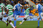4th November 2017, McDiarmid Park, Perth, Scotland; Scottish Premiership football, St Johnstone versus Celtic; Celtic's Olivier Ntcham makes it 4-0