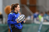 Bath Rugby Operations  Manager Sophie Bennett looks on during the pre-match warm-up. Pre-season friendly match, between Leinster Rugby and Bath Rugby on August 25, 2017 at Donnybrook Stadium in Dublin, Republic of Ireland. Photo by: Patrick Khachfe / Onside Images