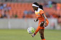 Houston, TX - Sunday June 19, 2016: Chioma Ubogagu during a regular season National Women's Soccer League (NWSL) match between the Houston Dash and FC Kansas City at BBVA Compass Stadium.