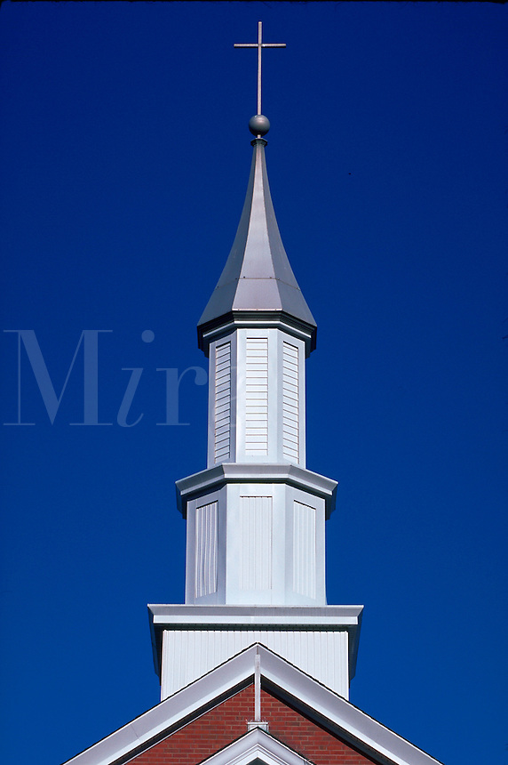 Church spire with cross