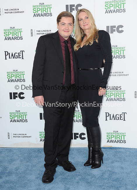 Michael Gandolfini and Marcy Wudarski<br />  attends The 2014 Film Independent Spirit Awards held at Santa Monica Beach in Santa Monica, California on March 01,2014                                                                               © 2014 Hollywood Press Agency
