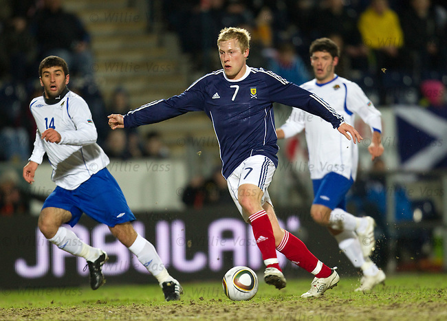 Scott Arfield on the attack for Scotland