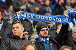 10.02.2017, Schauinsland-Reisen-Arena, Duisburg, GER, 2.FBL, MSV Duisburg vs DSC Arminia Bielefeld,, im Bild #MSV-Fans mit Scharl<br /> <br /> <br /> Foto &copy; nordphoto / Mauelshagen