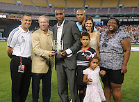 DC United former defender Eddy Pope with President and CEO Kevin Payne and family members after being inducted in the DC United Hall of Fame. LA Galaxy defeated DC United 2-1 at RFK Stadium, Saturday July 18, 2010.