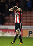 Chris Basham of Sheffield Utd frustrated during the Championship match at Bramall Lane Stadium, Sheffield. Picture date 02nd April, 2018. Picture credit should read: Simon Bellis/Sportimage