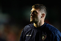 Jonny May of Leicester Tigers looks on during the pre-match warm-up. Heineken Champions Cup match, between Leicester Tigers and the Scarlets on October 19, 2018 at Welford Road in Leicester, England. Photo by: Patrick Khachfe / JMP