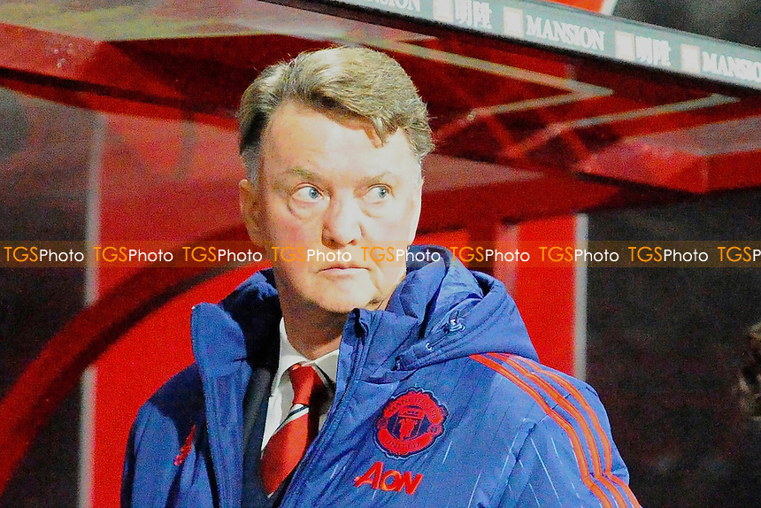 Manchester United Manager Luis van Gaal during AFC Bournemouth vs Manchester United at the Vitality Stadium