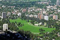 Aerial Denver, Colorado. Cheesman Park