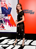 Emily Tyra at the world premiere for &quot;The Spy Who Dumped Me&quot; at the Fox Village Theatre, Los Angeles, USA 25 July 2018<br /> Picture: Paul Smith/Featureflash/SilverHub 0208 004 5359 sales@silverhubmedia.com