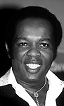 Lou Rawls during the taping of the television special 'Motown Returns to the Apollo,' Harlem, New York, May 4, 1985.