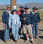 Pylon Inside 5 Crew - Capt. Dean Patmon, Lyn Patmon, Greg Parsons, Kirk Burress and Jim Colwell at the Air Races at the Reno-Stead Airfield on Sunday, Sept. 20, 2015.