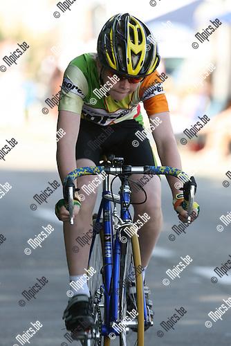 2007-07-21 /Wielrennen / VK tijdrijden Aspiranten jongens 12 jaar Zoersel / Matthias Hanssens
