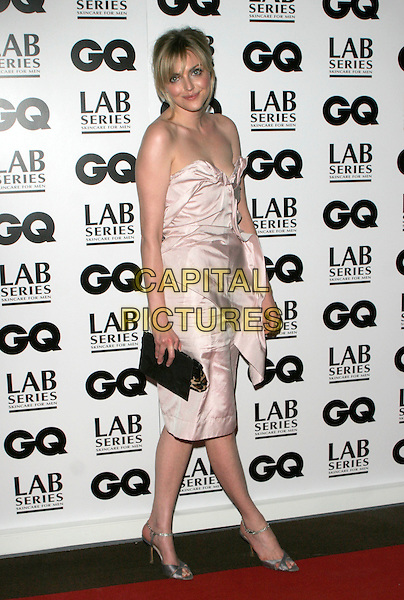 SOPHIE DAHL.Attending the 10th Anniversary GQ Men Of The Year Awards, Royal Opera House, Covent Garden, London, England..September 4th 2007.full length strapless pale pink dress gathered ruched leopard print clutch purse bag .CAP/AH.©Adam Houghton/Capital Pictures