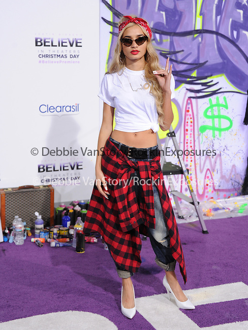 LOS ANGELES, CA - December 18: Pia Mia  arrives at Justin Bieber`s Believe World Premiere held at The Premiere House at Regal Cinemas L.A. Live in Los Angeles, California on December 18,2013                                                                               © 2013 Hollywood Press Agency