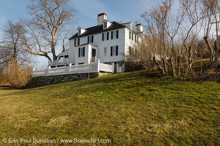 Sayward-Wheeler House in York, Maine USA, which is part of the New England seacoast. The Sayward-Wheeler House was built in 1718.