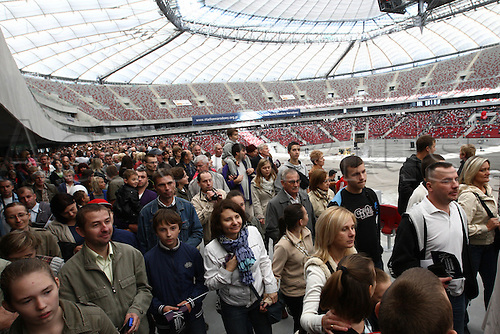02.10.2011, Warsaw, Poland. Narodowy Stadium, built for the 2012 Euro Football Championships is opened in Poland. Mandatory Credit: Actionplus