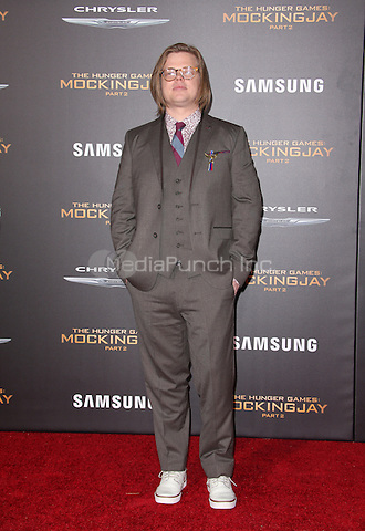 "Los Angeles, CA - November 16 Elden Henson Attending Premiere Of Lionsgate's ""The Hunger Games: Mockingjay - Part 2"" At Microsoft Theater On November 16, 2015. Photo Credit: Faye Sadou / MediaPunch"