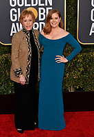 LOS ANGELES, CA. January 06, 2019: Carol Burnett &amp; Amy Adams at the 2019 Golden Globe Awards at the Beverly Hilton Hotel.<br /> Picture: Paul Smith/Featureflash