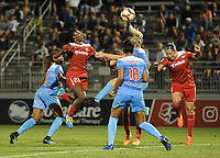 Boyds, MD -Saturday August 26, 2017: Casey Short, Cheyna Williams, Samantha Johnson, Julie Ertz, Whitney Church during a regular season National Women's Soccer League (NWSL) match between the Washington Spirit and the Chicago Red Stars at Maureen Hendricks Field, Maryland SoccerPlex.