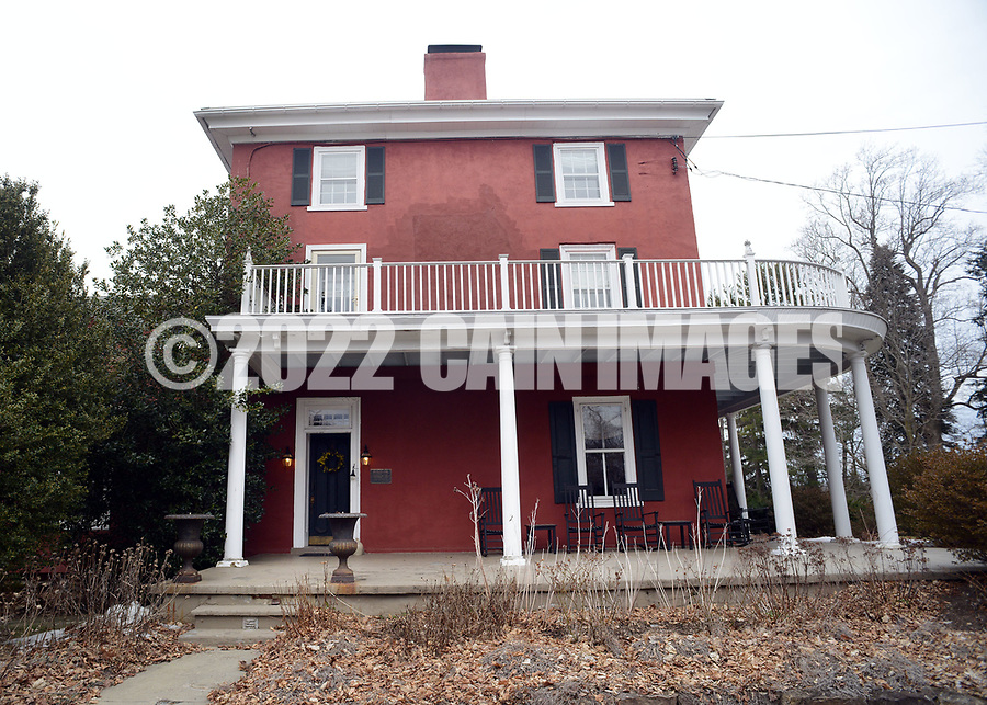 The farm house, which is now a bed and breakfast rests on the property Friday March 24, 2017 at Highland Farm in Doylestown, Pennsylvania. Hammerstein is in the process of raising money to restore the old brand create a Hammerstein museum dedicated to his grandfather, Oscar Hammerstein, writer of the broadway musicals, Sound of Music, King and I, Oklahoma and Carousel to name a few. (WILLIAM THOMAS CAIN / For The Philadelphia Inquirer)