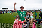 Ballyduff captain Mikey Boyle celebrates at the Final whistle in the Senior County Hurling Final in Austin Stack Park on Sunday