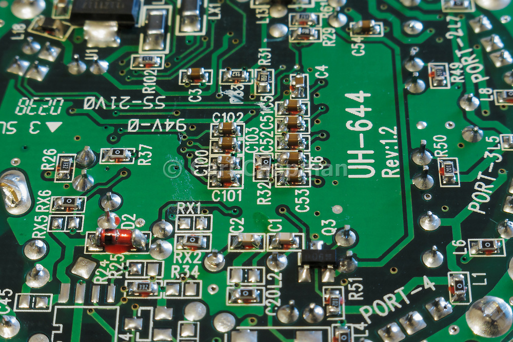 surface mount resistors and capacitors on a printed circuit