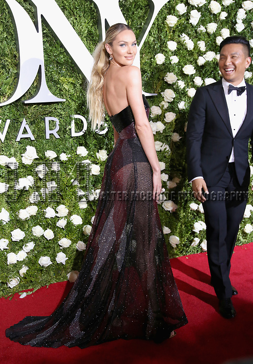 NEW YORK, NY - JUNE 11:  Candace Swanepoel and designer Prabal Gurung attend the 71st Annual Tony Awards at Radio City Music Hall on June 11, 2017 in New York City.  (Photo by Walter McBride/WireImage)