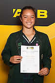 All Rounder Theresa Fitzpatrick from St Cuthberts College. ASB College Sport Young Sportsperson of the Year Awards held at Eden Park, Auckland, on November 24th 2011.
