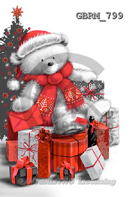 Roger, CHRISTMAS ANIMALS, paintings+++++,GBRM799,#XA#