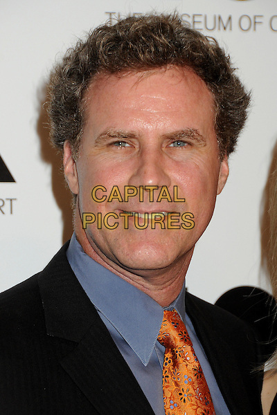 Will Ferrell.2011 MOCA Gala - An Artist's Life Manifesto held at MOCA Grand Avenue,  Los Angeles, California, USA, .12th November 2011..portrait headshot grey gray orange tie smiling shirt .CAP/ADM/BP.©Byron Purvis/AdMedia/Capital Pictures.