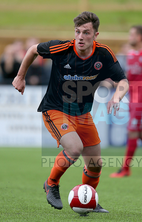 Kieran Wallace of Sheffield Utd during the pre season match at the Flamingo Land Stadium, Scarborough. Picture date 15th July 2017. Picture credit should read: Richard Sellers/Sportimage