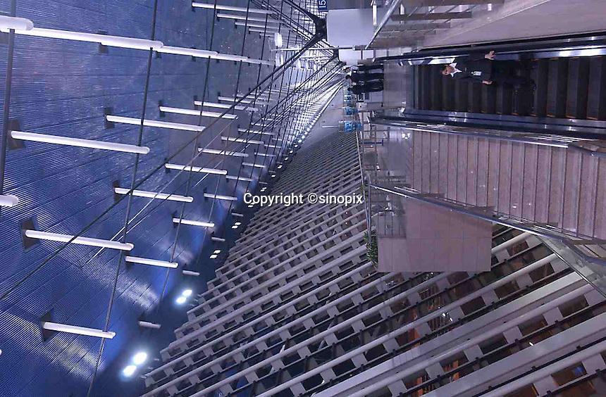 The interior of Shanghai's Hongqiao International Airport, China..