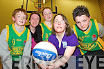 Pictured at the launch of the Gneeveguilla Basketball club games and skills day which will be held in Scoil Pobail Sliabh Luachra, Rathmore on Saturday 31st March, in aid of Kerry Stars Special Olympics were Jack Cremin, Margaret O'Donoghue, Roisin Daly, Janet O'Donoghue and Gearoid Daly......