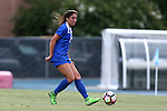 19 August 2016: Duke's Olivia Erlbeck. The Duke University Blue Devils played the Wofford College Terriers in a 2016 NCAA Division I Women's Soccer match. Duke won the game 9-1.