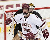 Christopher Brown (BC - 10), Alex Leclerc (CC - 1) - The Boston College Eagles defeated the visiting Colorado College Tigers 4-1 on Friday, October 21, 2016, at Kelley Rink in Conte Forum in Chestnut Hill, Massachusetts.The Boston College Eagles defeated the visiting Colorado College Tiger 4-1 on Friday, October 21, 2016, at Kelley Rink in Conte Forum in Chestnut Hill, Massachusett.