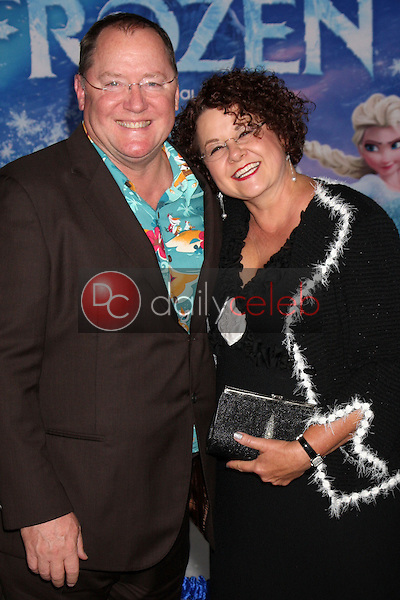 John Lasseter, Nancy Lasseter<br /> at the &quot;Frozen&quot; Los Angeles Premiere, El Capitan, Hollywood, CA 11-19-13<br /> David Edwards/DailyCeleb.Com 818-249-4998